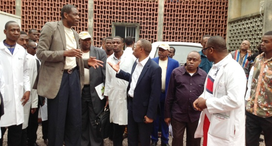 Visite du chairman de la Fondation Mutombo Dikembe