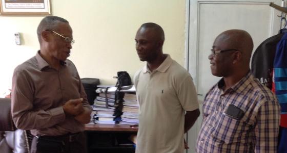 Visite de Mr Florent Ibenge à la faculté