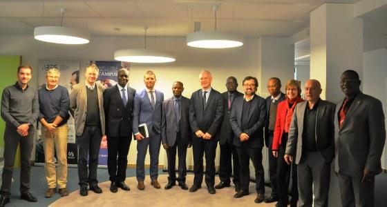 Une forte équipe de l'Université de Kinshasa (Unikin), conduite par Mr le Recteur, est en mission en Belgique