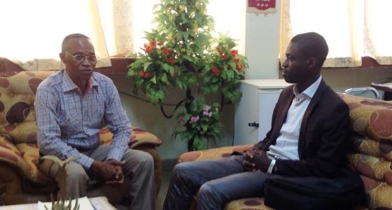 Mr Kabwe Paul Vinny à la faculté
