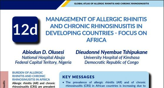 Livre : Global Atlas of Allergic rhinitis and Chronic Rhinosinusitis. Vient de paraitre