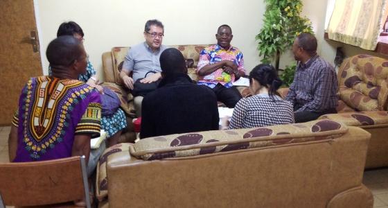 Visite d'une délégation de la JICA au bureau du Doyen
