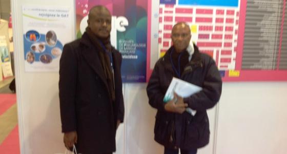 Le Doyen JM Kayembe et le Dr Pipo au congrès de la société de pneumologie de langue française à Marseille 27-29 janvier 2017