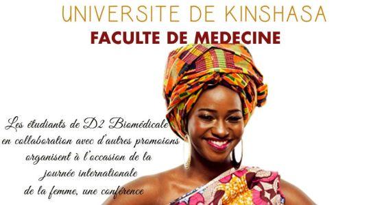 Les étudiants de la faculté de Médecine de l'UNIKIN et le mois de la femme.
