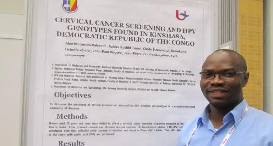 Dr. Mutombo Alex remporte un Prix  au 31ème Congrès de l'International Papillomavirus Society (HPV 2017).