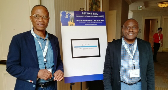 Les professeurs Kayembe et Sumaili à San Diego