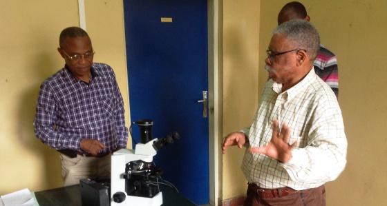Acquisition d'un microscope didactique