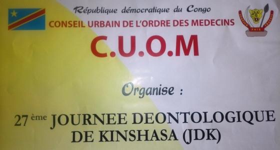27ème journée Déontologique de Kinshasa (JDK)