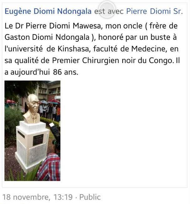 Commentaire d'Eugène Diomi Ndangala sur le buste
