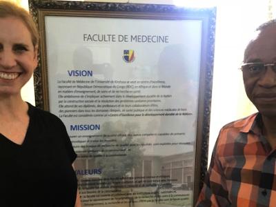 Lisa Travis and Dr. Jean Marie Kayembe Ntumba