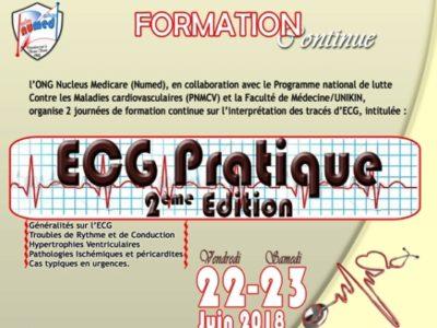 2 journées de formation continue sur l'interprétation des tracés d'ECG