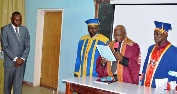 Dominique MBUINGA BINDA à présenté et défendu sa mémoire