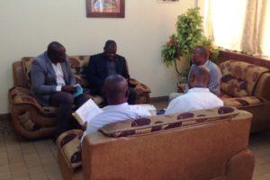 Visite au décanat de Mr A. L Kitenge