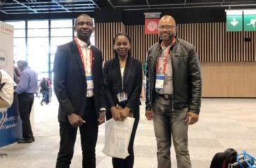 Alain Bakebe et Abbi Monique Bilungula au congrès de l ERS à Paris
