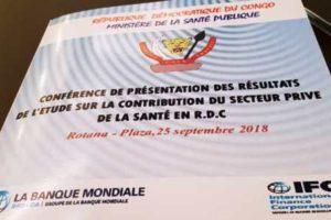 Conférence de restitution des résultats de l'étude sur la contribution du secteur privé de la santé en RDC.