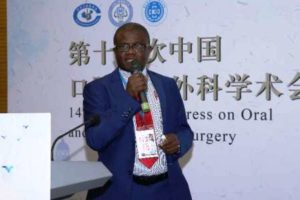 Dr Fidele Nyini B.  in the Scientific Congres of Oral and Maxillofacial Surgery held in China