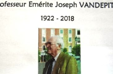 IN MEMORIAM : Professeur Emérite Joseph VENDEPITTE
