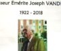 IN MEMORIAM : Professeur Emérite Joseph VANDEPITTE