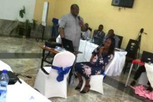 Professeur Patrick Kayembe à l'édition du DIU VIH-TB-HV