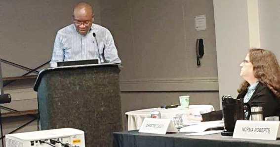 Les professeurs Jean-Marie Kayembe et Pius Kabututu à Colombus (USA)